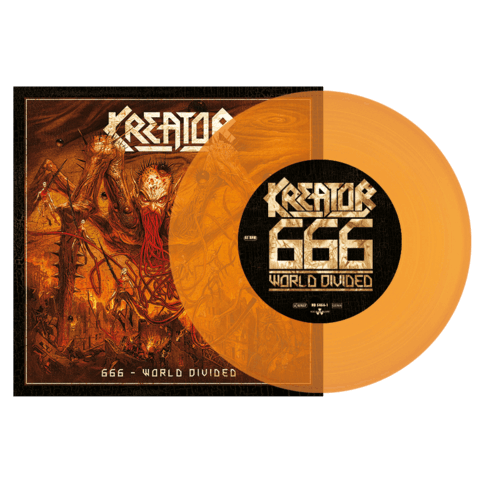 666 World Divided / Checkmate (Ltd. Orange Split 7'' Vinyl) von Kreator & Lamb of God - LP jetzt im Kreator Shop