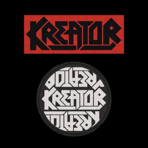 Logos von Kreator - 2er Aufnäher Set jetzt im Kreator Shop