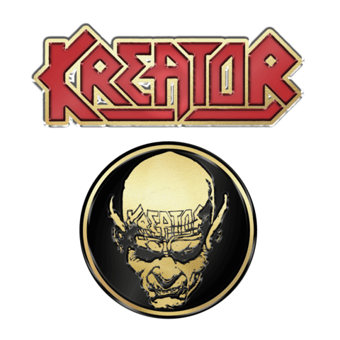√Skull n Logo von Kreator - 2er Pin Set jetzt im Kreator Shop
