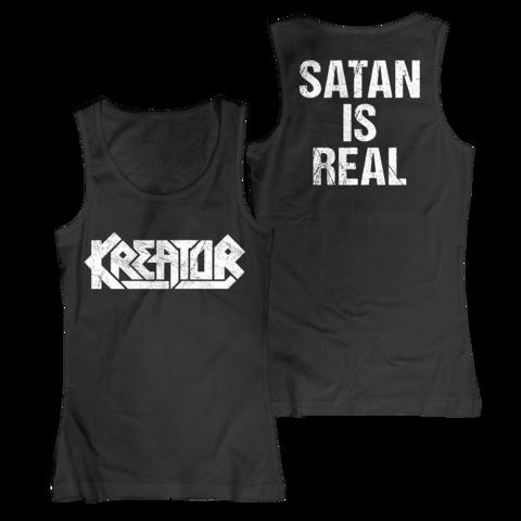 √Logo - Satan Is Real von Kreator - Girlie Tank Top jetzt im Kreator Shop