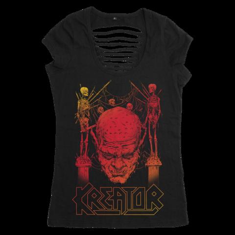 √Sunset Skull von Kreator - Girlie Shirt jetzt im Kreator Shop