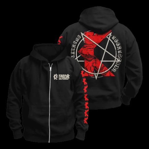 √K-Line Pentagram von Kreator - Hooded jacket jetzt im Kreator Shop
