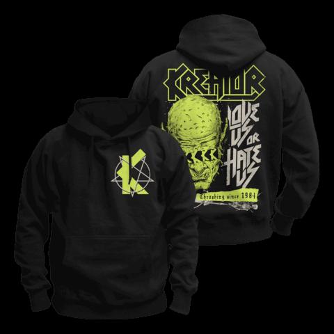 √Love Us Or Hate Us von Kreator - Hood sweater jetzt im Kreator Shop