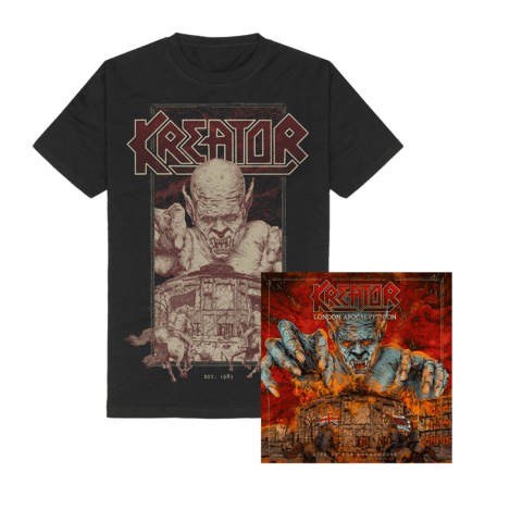 London Apocalypticon - Live At The Roundhouse (Ltd. Bundle CD + T-Shirt) von Kreator - CD Bundle jetzt im Kreator Shop