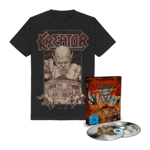 London Apocalypticon - Live At The Roundhouse (Ltd. Bundle Deluxe CD & BluRay + T-Shirt) von Kreator - CD Bundle jetzt im Kreator Shop
