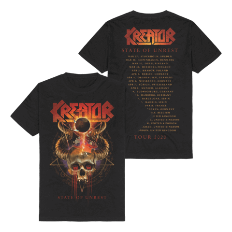 √State Of Unrest Tour 2020 von Kreator - T-Shirt jetzt im Kreator Shop