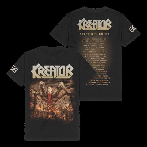 666 - State Of Unrest Tour 2020 von Kreator - T-Shirt jetzt im Kreator Shop